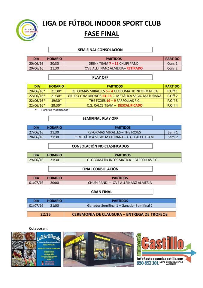 Fase Final Liga de Fútbol Sport Club 22-06-16