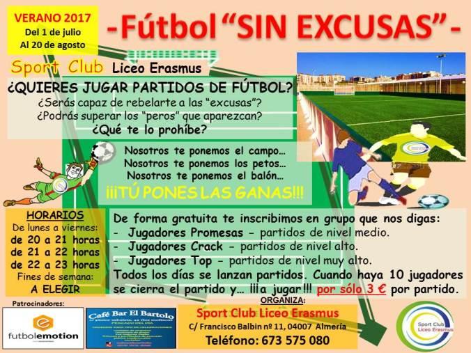 Cartel Fútbol SIN EXCUSAS