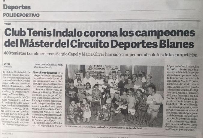 publicación La Voz de Almeria